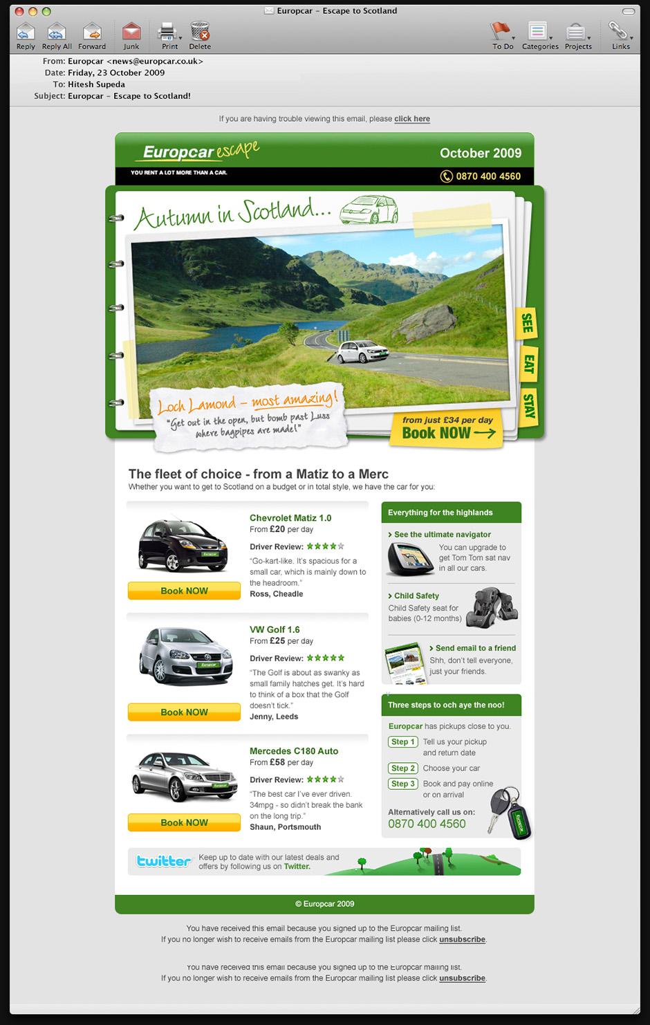 Europcar email