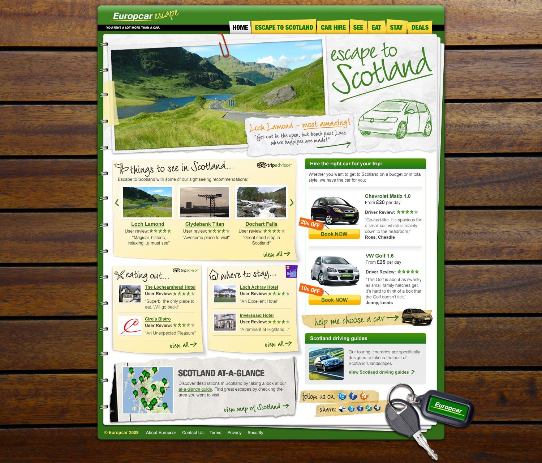 Europcar campaign site